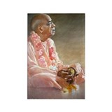 Srila Prabhupada Playing Kartals Rectangle Magnet