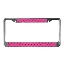 Argyle Paw Prints License Plate Frame
