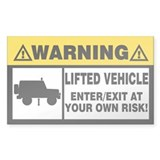Lifted Warning Simple Decal