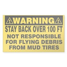 Stay Back Over 100 Feet Decal