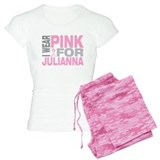 I wear pink for Julianna pajamas