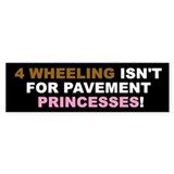 Pavement Princesses Bumper Sticker