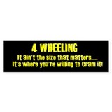 Size Bumper Sticker