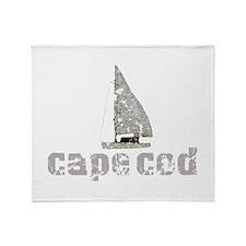 Cape Cod Sailboat Throw Blanket