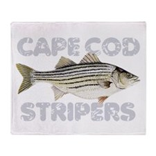 Cape Cod Stripers Throw Blanket
