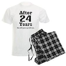24th Anniversary Funny Quote Pajamas