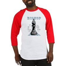 Black Bishop Chess Mate Baseball Jersey