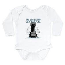 Black Rook Chess Mate Long Sleeve Infant Bodysuit