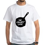 The Crabby Cook - Fry Pan White T-Shirt