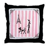A walk in Paris Throw Pillow