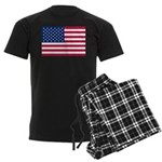 US Flag Men's Dark Pajamas