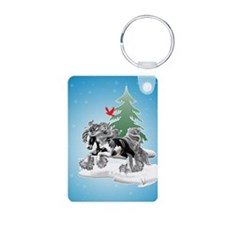 Gypsy Vanner Winter Keychains