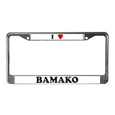 I Love Bamako License Plate Frame
