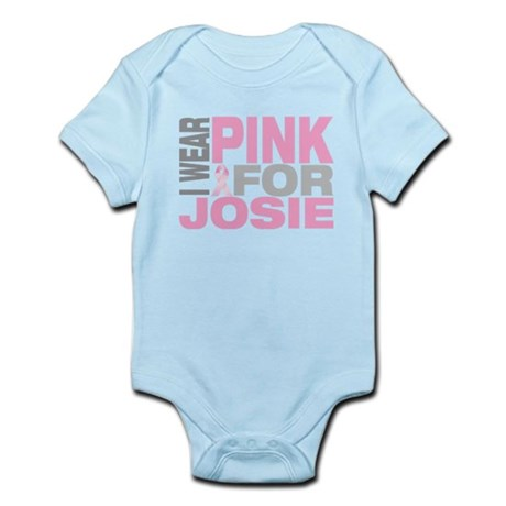 I wear pink for Josie Infant Bodysuit