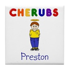 """Preston"" Logo Ceramic Tile / Coaster"