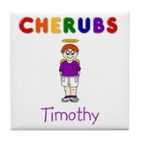"""Timothy"" Logo Ceramic Tile / Coaster"