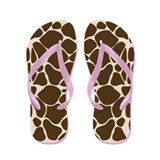 Giraffe Print Flip Flops
