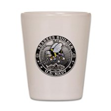USN Seabees Builder BU Shot Glass