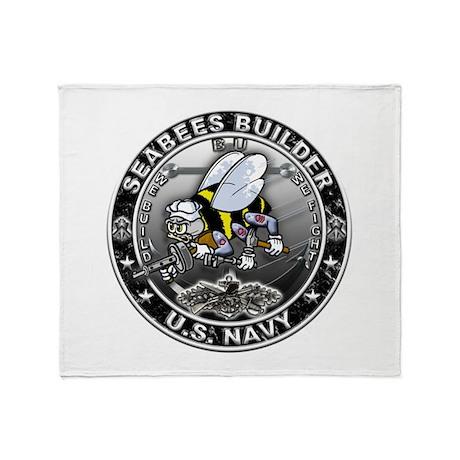USN Seabees Builder BU Throw Blanket