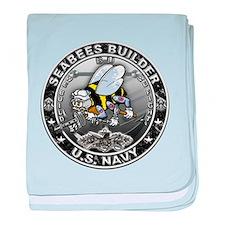 USN Seabees Builder BU baby blanket