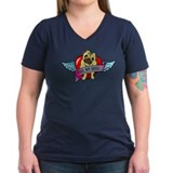 Pugs Banner Heart & Wings - P Shirt