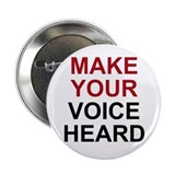 "Make Your Voice Heard 2.25"" Button (10 pack)"