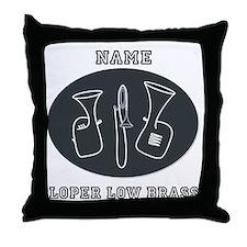 Loper Low Brass Throw Pillow