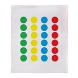Twister Throw Blankets