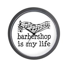 Barbershop Is My Life Gift Wall Clock