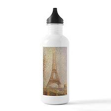 Eiffel Tower by Seurat Water Bottle