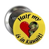 Half my heart is in Kuwait Button