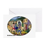 Krishna & Friends Greeting Cards (Pk of 10)