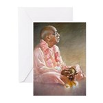 Srila Prabhupada Playing Kartals Cards (Pk of 10)