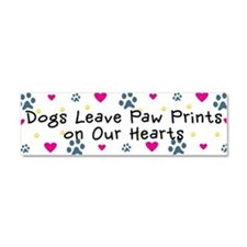 Dogs Leave Paw Prints Car Magnet 10 x 3