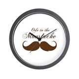 Ode to the moustache Wall Clock