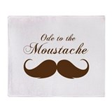 Ode to the moustache Throw Blanket