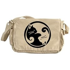 Yin Yang Cats Messenger Bag
