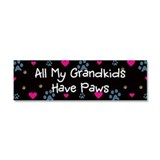 All My Grandkids Have Paws Car Magnet 10 x 3