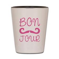 Bonjour Moustache Shot Glass
