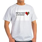 Half my heart is in Kosovo Ash Grey T-Shirt
