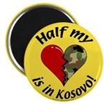 Half my heart is in Kosovo Magnet