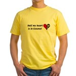 Half my heart is in Kosovo Yellow T-Shirt