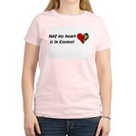 Half my heart is in Kosovo Women's Pink T-Shirt