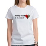 Half my heart is in Kosovo Women's T-Shirt