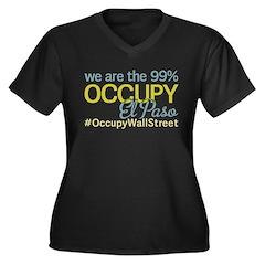 Occupy El Paso Women's Plus Size V-Neck Dark T-Shi