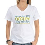 Occupy Egg Harbor Township Women's V-Neck T-Shirt