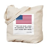 MILTON BERLES VIEW ON CONGRESS Tote Bag