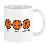 Eat Sleep Basketball Small Mug