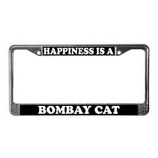 Happiness Is A Bombay Cat License Plate Frame