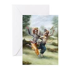 Krishna & Balarama at Play Cards (Pk of 10)